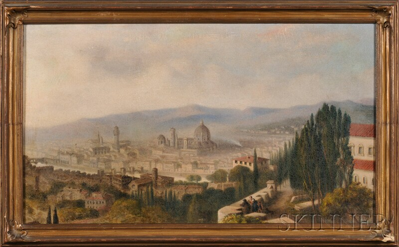 Continental School, 19th Century      View of Florence