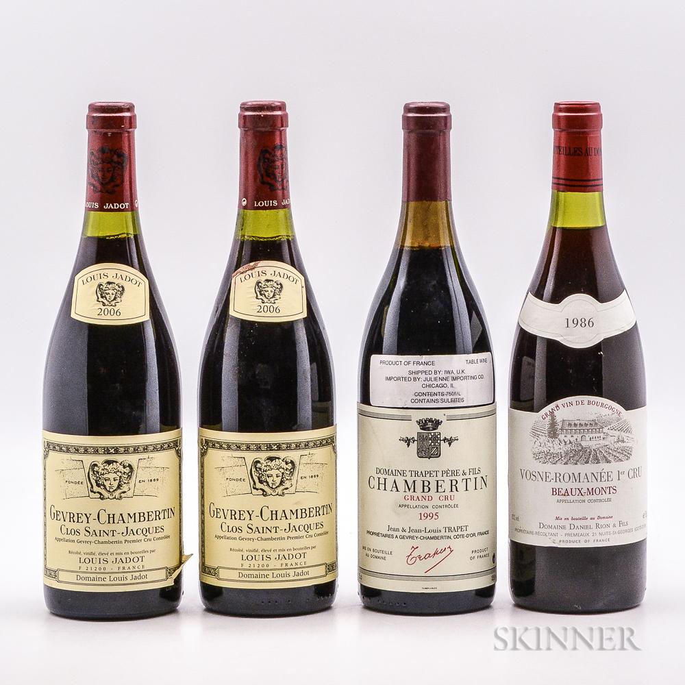 Mixed Red Burgundy, 4 bottles
