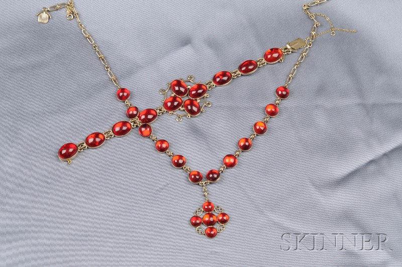 14kt Gold and Amber Suite