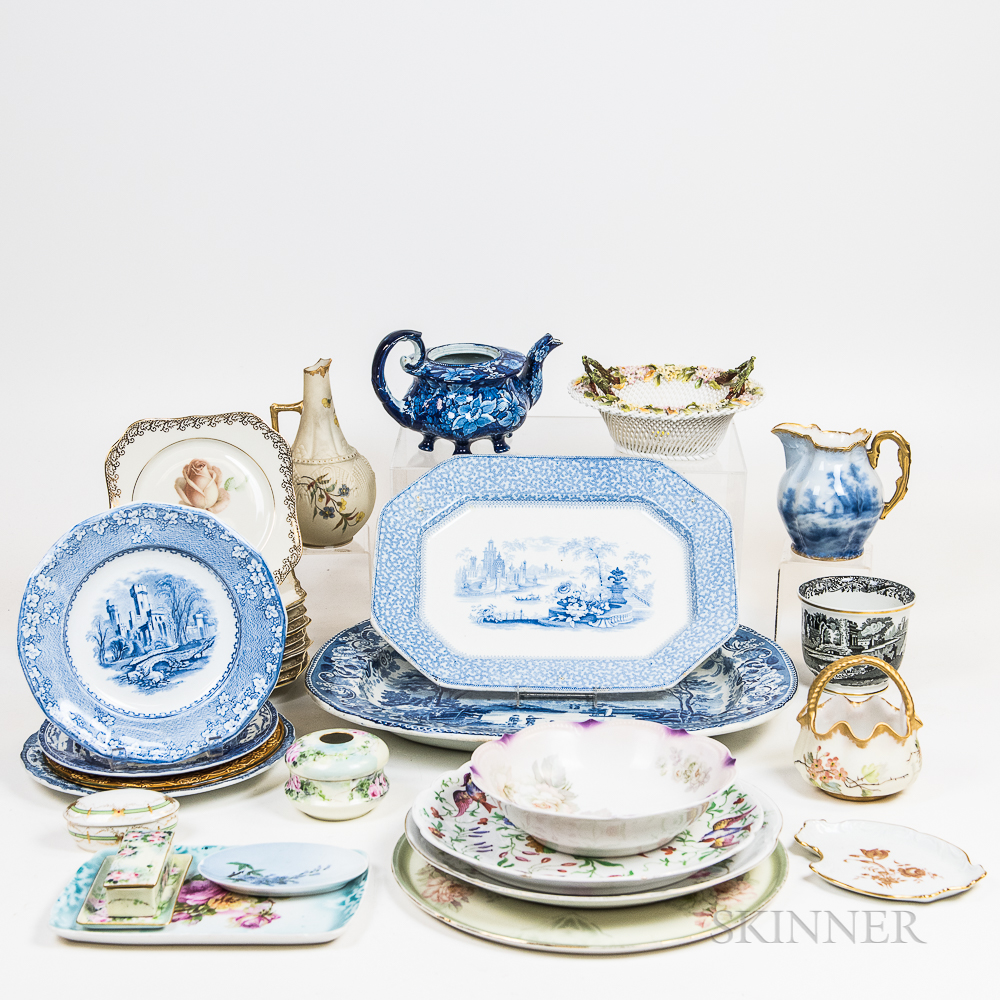 Group of English and Continental Ceramic Items