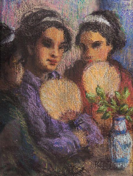 Attribute to Eric Pape (American, 1870-1938)      Geisha.
