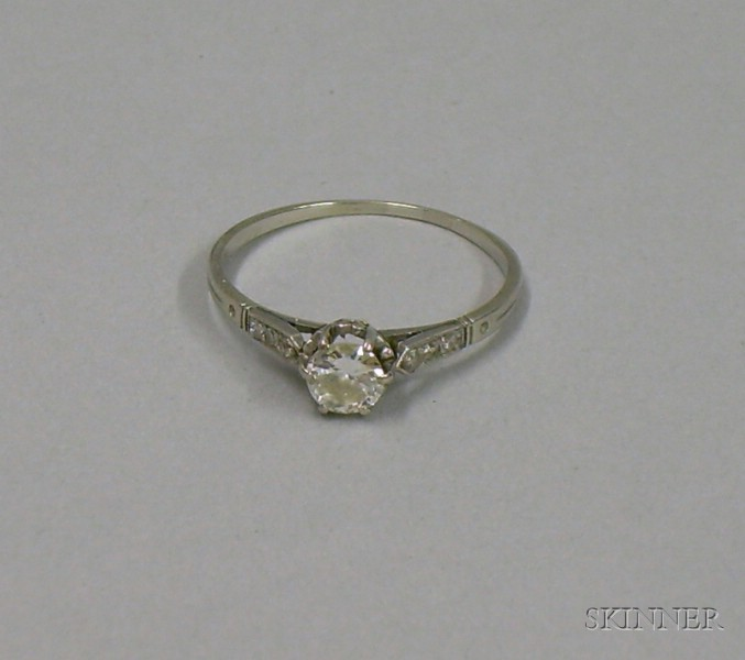 Art Deco Platinum and Diamond Solitaire