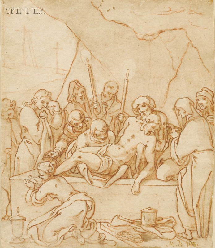Manner of Martin de Vos (Flemish, 1532-1603)      Entombment of Christ