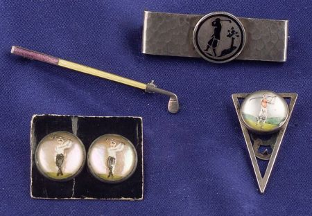 Three Sterling Silver Golf Articles
