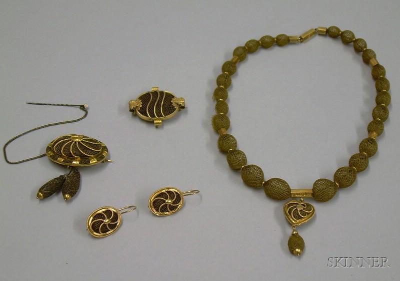 Suite of Memorial Jewelry