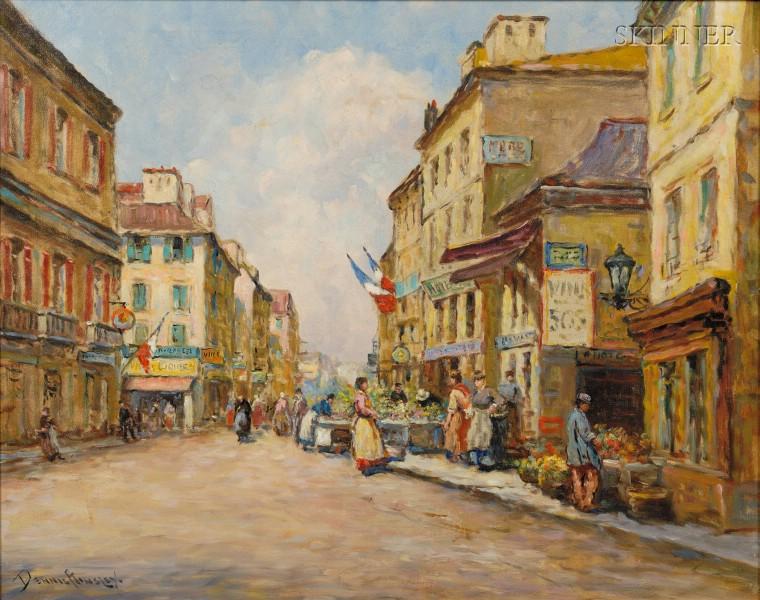 Dennis Ainsley (American, 1880-1952)      Rue du Seine - Paris