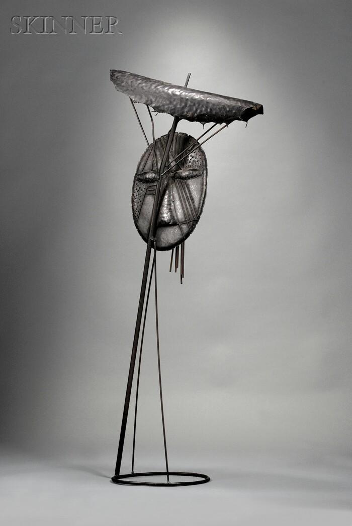Jean Lambert-Rucki (French, 1888-1967)      The Umbrella Man, c. 1950