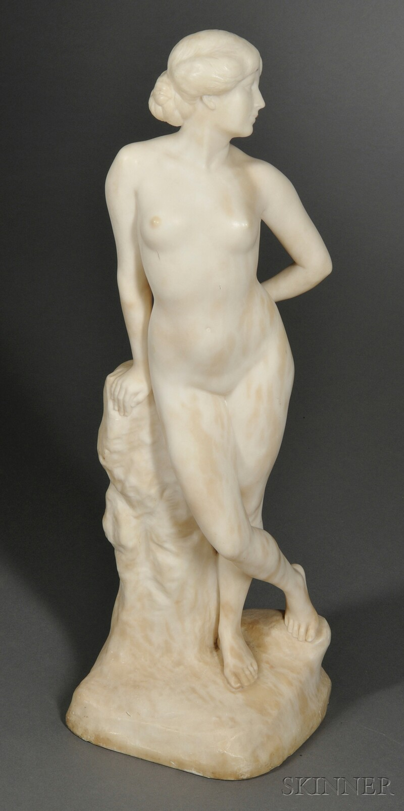 Alabaster Figure of a Nude Woman