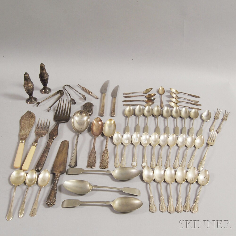 Assorted Group of Sterling Silver and Silver-plated FlatwareAssorted Group...