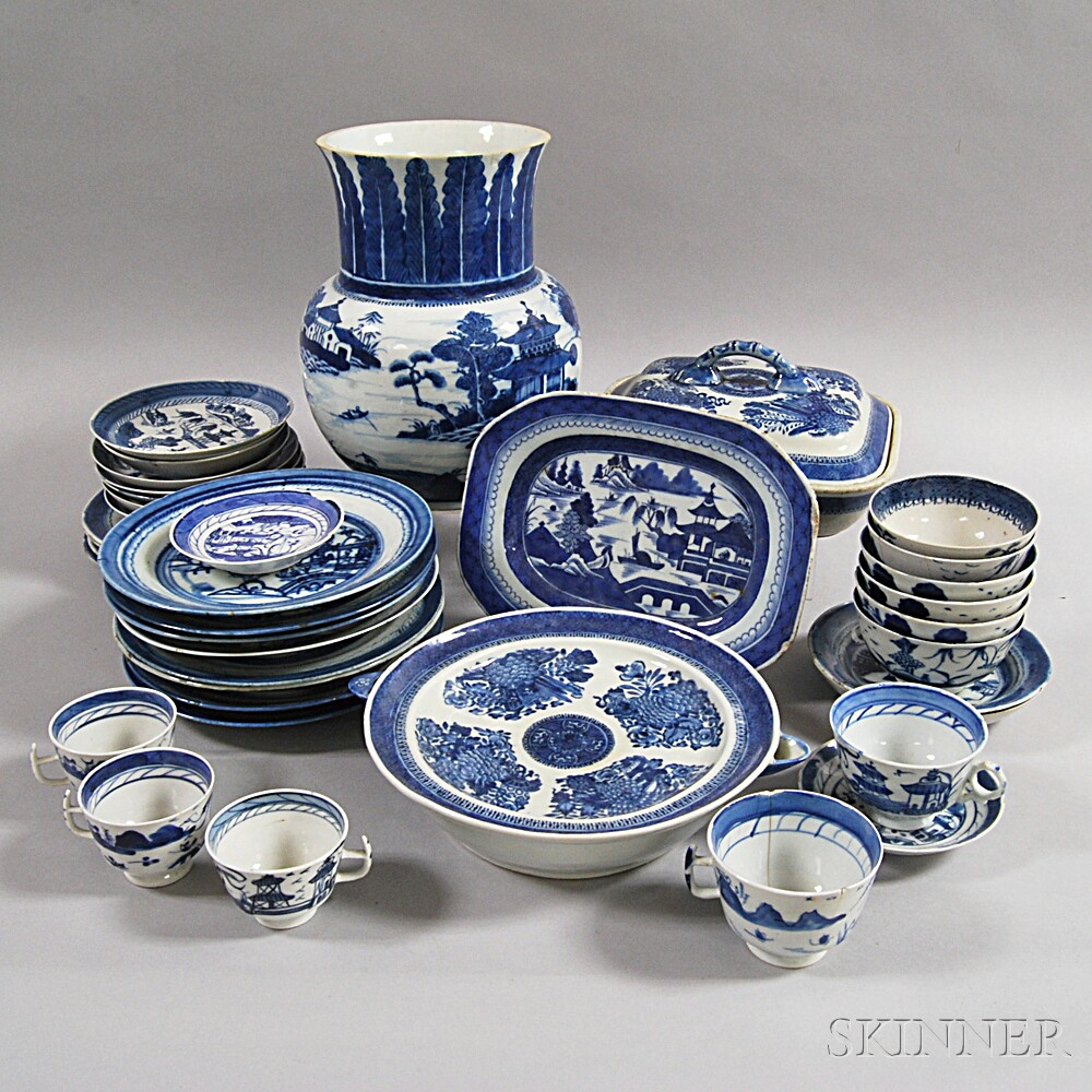 Approximately Thirty-nine Pieces of Canton Porcelain