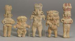 "Five Pre-Columbian Pottery ""Pretty Ladies,"""
