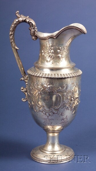 William Gale & Son Coin Silver Ewer