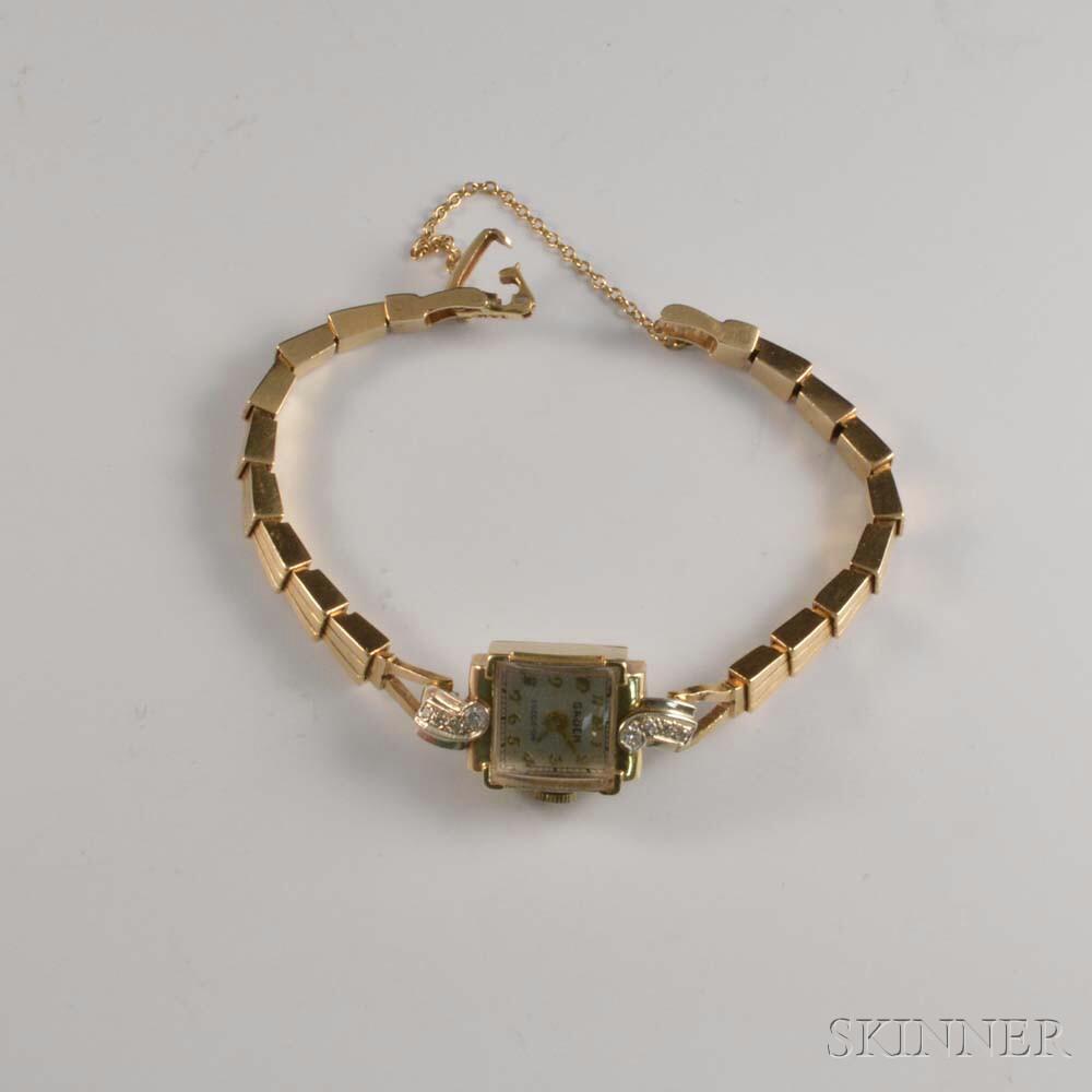 Gruen 14kt Gold and Diamond Lady's Wristwatch