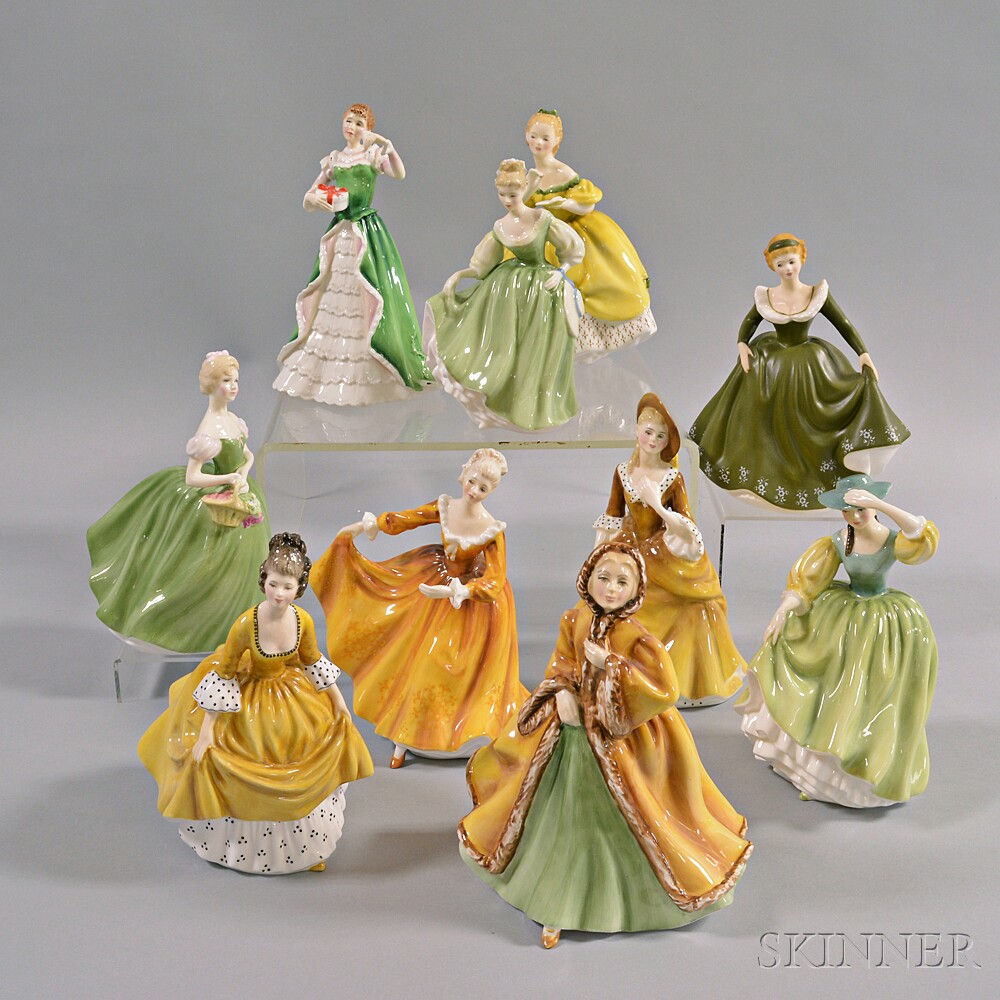 Ten Royal Doulton Figures
