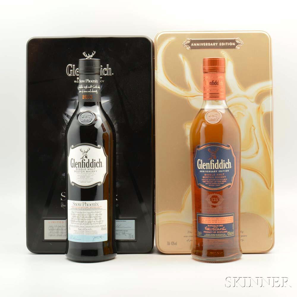 Mixed Glenfiddich, 2 bottles