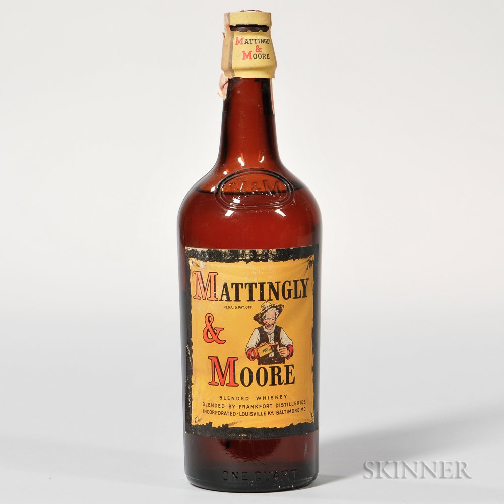 Mattingly & Moore Blended Whiskey, 1 quart bottle