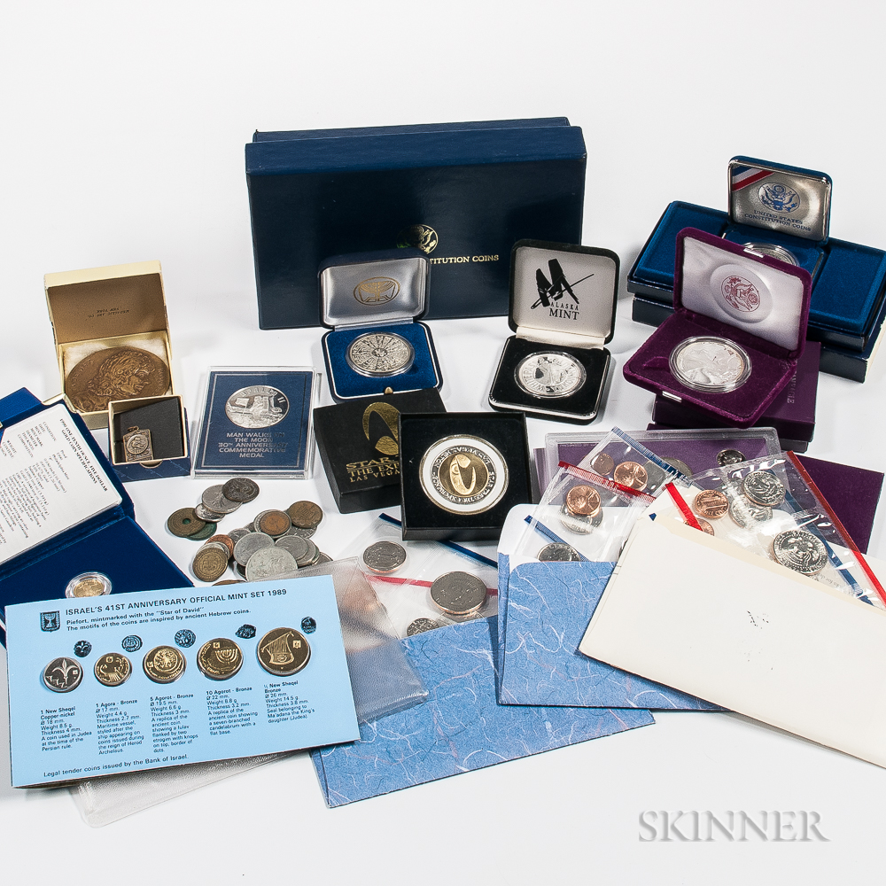 Group of Coins and Medals