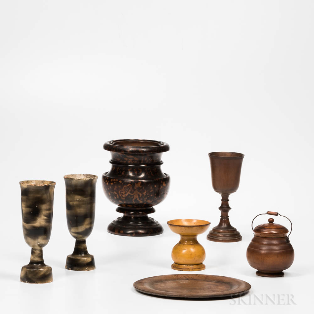 Seven Turned Table Items