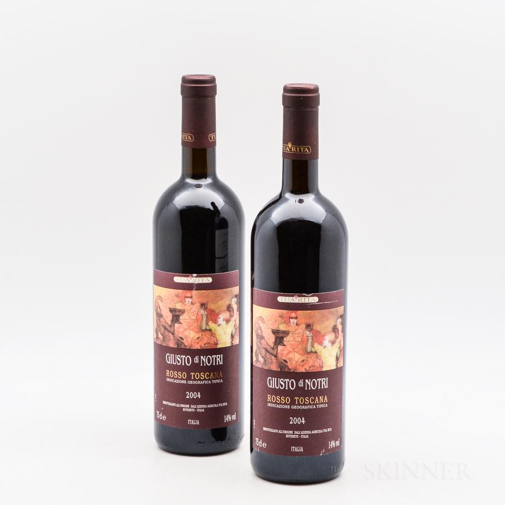 Tua Rita Giusto di Notri 2004, 2 bottles