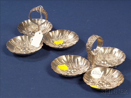 Pair of S. Kirk & Son Inc. Sterling Repousse Condiment Servers