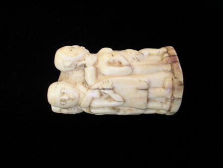 African Carved Ivory Tusk End