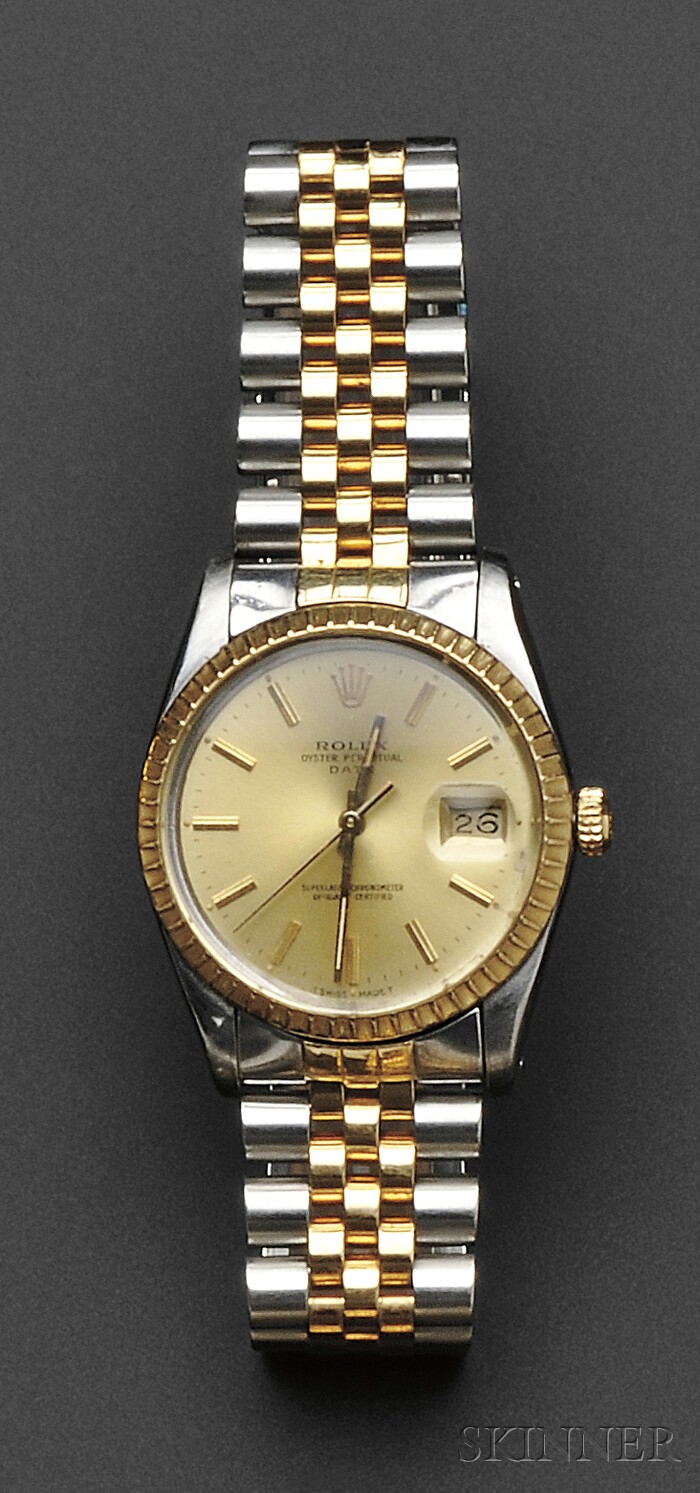 Stainless Steel and 18kt Gold Wristwatch, Rolex