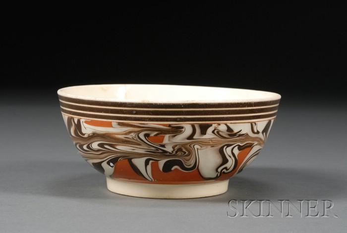 Mochaware Marbled Bowl