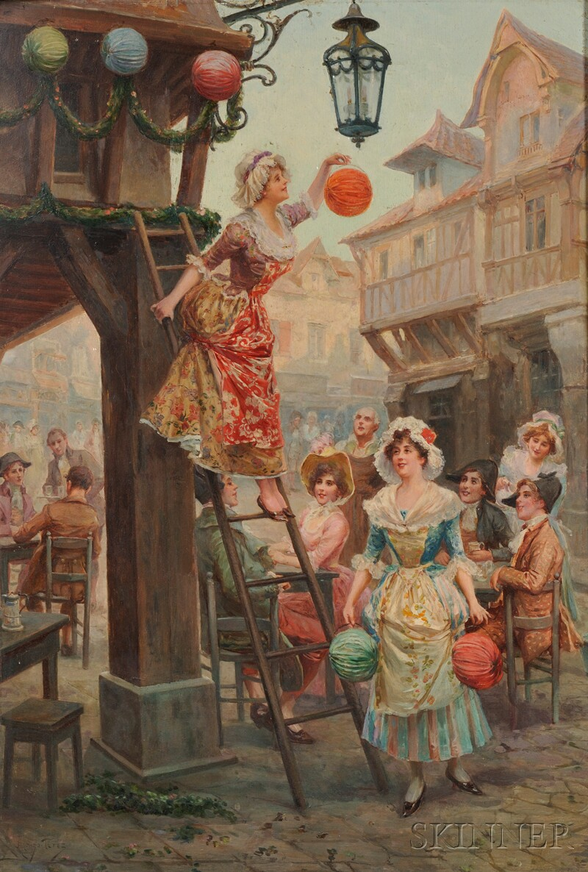 Alonzo Perez (Spanish, 1858-1914)      Hanging Lanterns