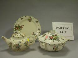 Approximately 154 Piece Royal Doulton Old Leeds Sprays Pattern Ceramic Dinner Service.