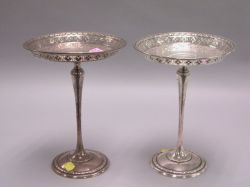 Pair of American Sterling Silver Pierced and Footed Tazza.