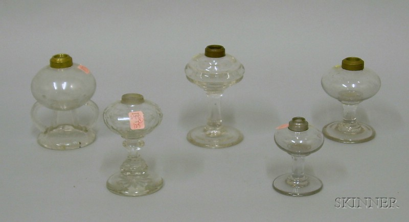 Five Colorless Glass Lamps