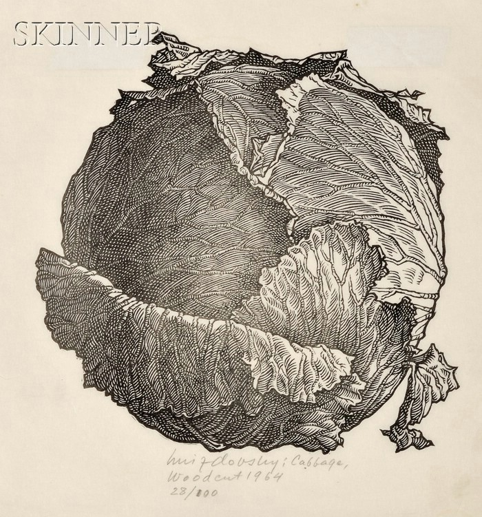 Jacques Hnizdovsky (American/Ukrainian, 1915-1985)      Cabbage