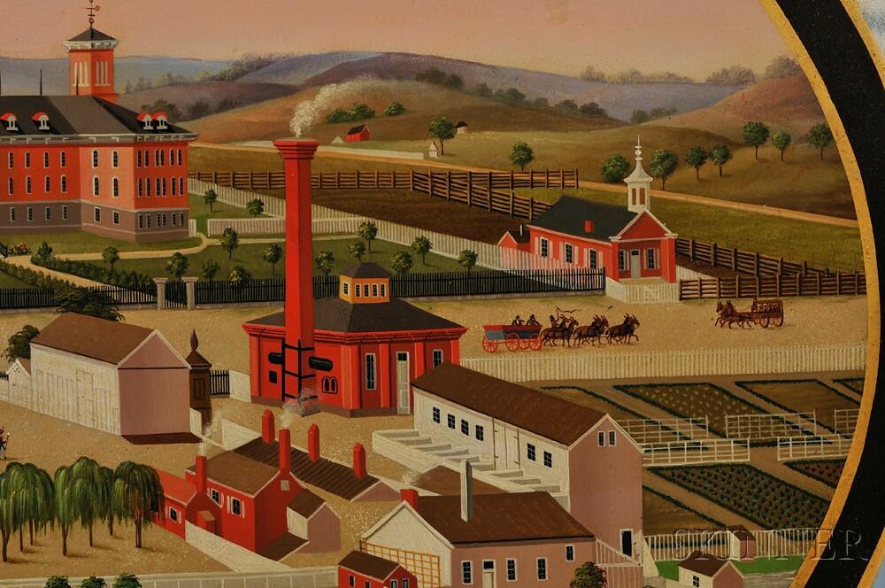 John Rasmussen (Pennsylvania, Germany, 1828-1895)      View of the Buildings & Surroundings of the Berks County Almshouse.