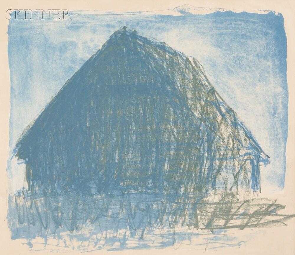 Wolf Kahn (German/American, b. 1927)      Barn