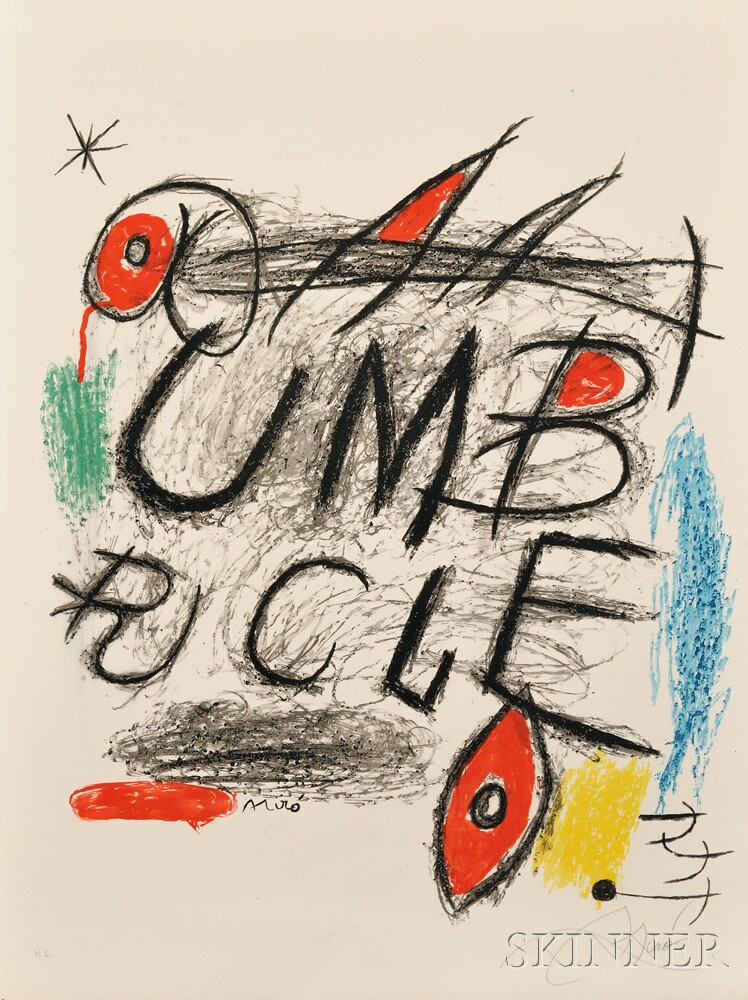 Joan Miró (Spanish, 1893-1983) Poster for the Film ...