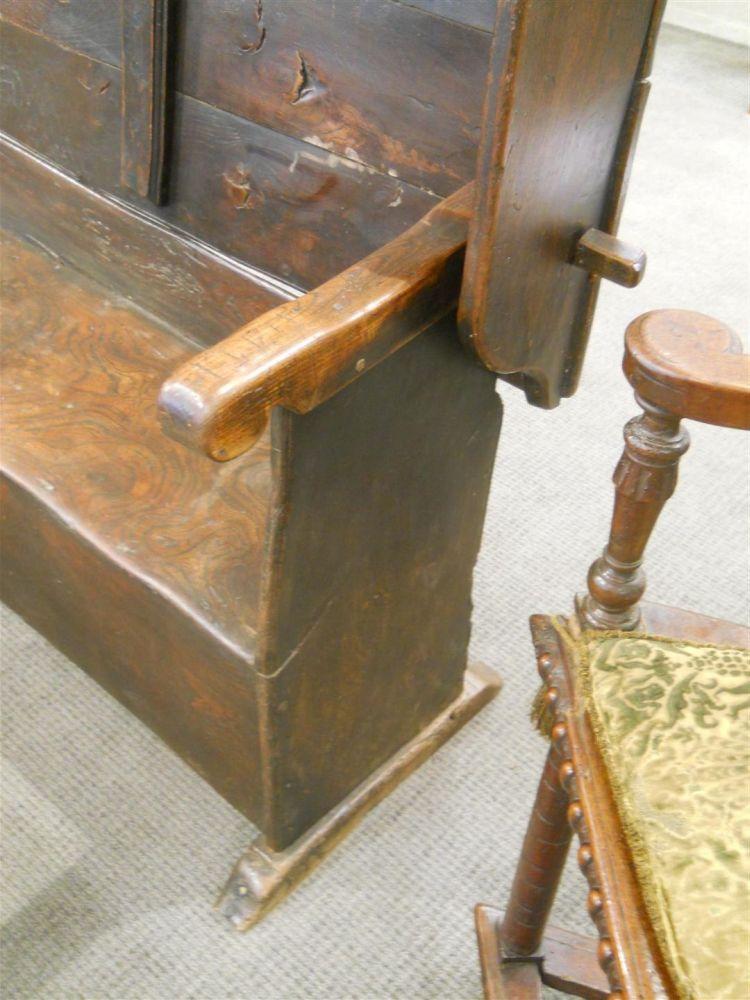 Oak Settle Table