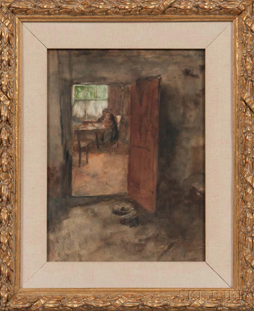 Jacob Simon Hendrik Kever (Dutch, 1854-1922)      View Through a Doorway