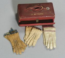 Glove Case and Three Pairs of Gloves for a Fashionable Doll