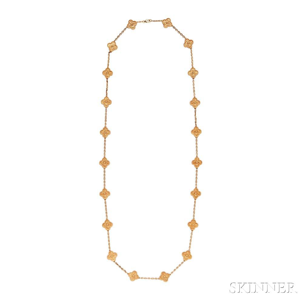 """18kt Gold """"Vintage Alhambra"""" Necklace, Van Cleef & Arpels"""