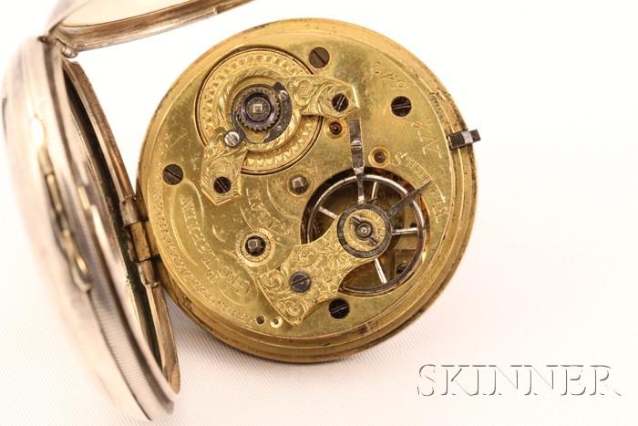 Silver Consular Case Massey Lever Watch by George Esplin