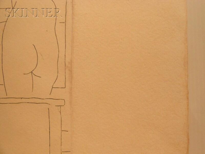 Pablo Picasso (Spanish, 1881-1973)      Le repose du sculpteur devant le petit torse