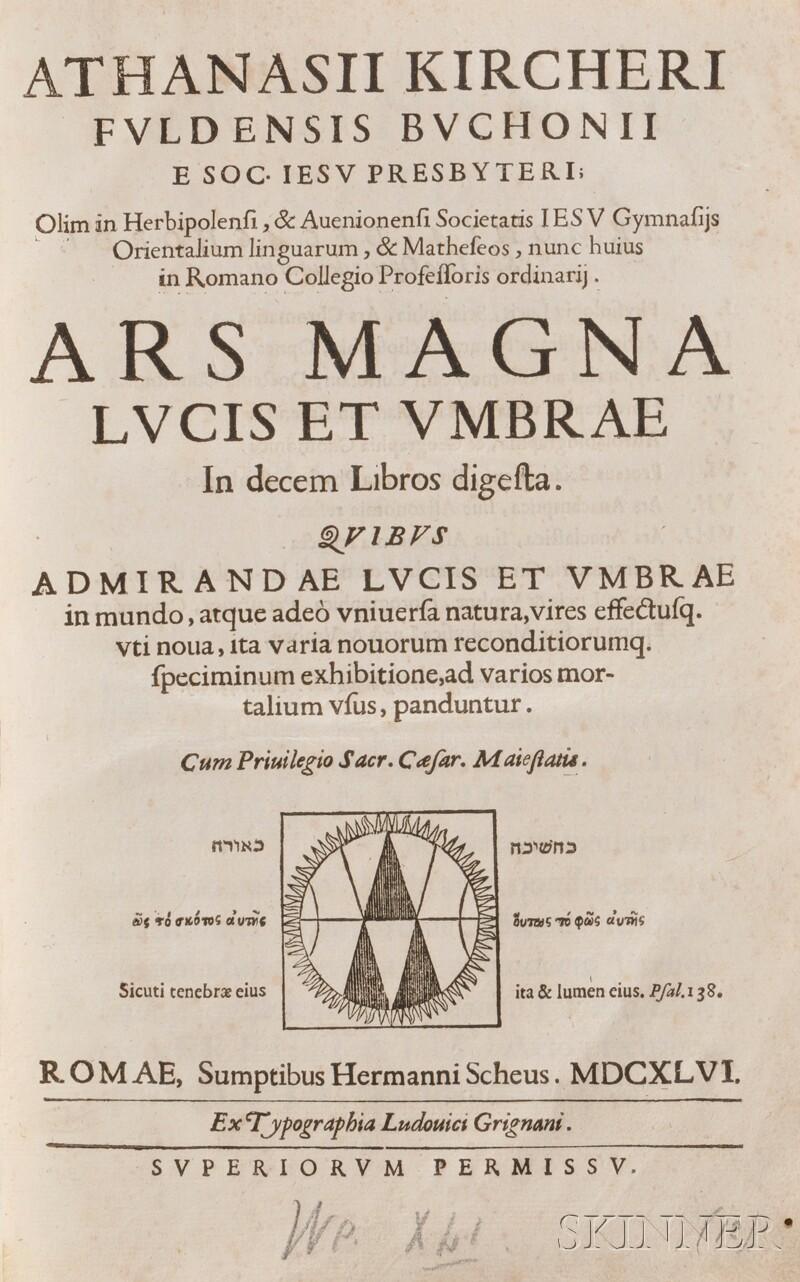 Kircher, Athanasius (1602-1680) Ars Magna Lucis et Umbrae