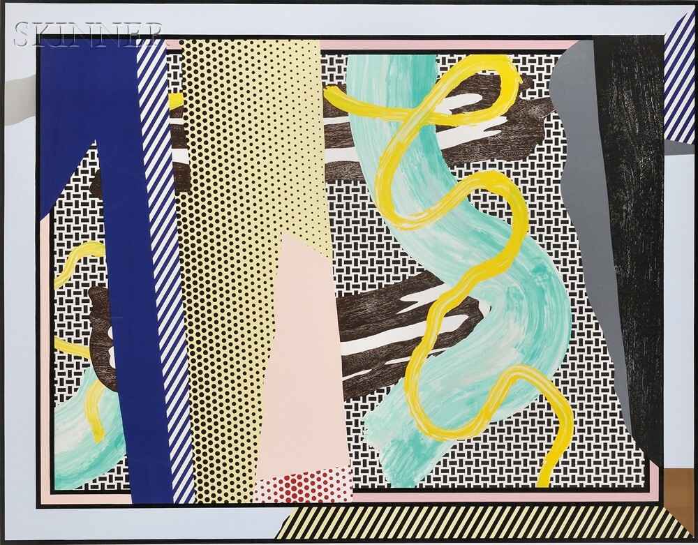 Roy Lichtenstein (American, 1923-1997)      Reflections on Brushstrokes