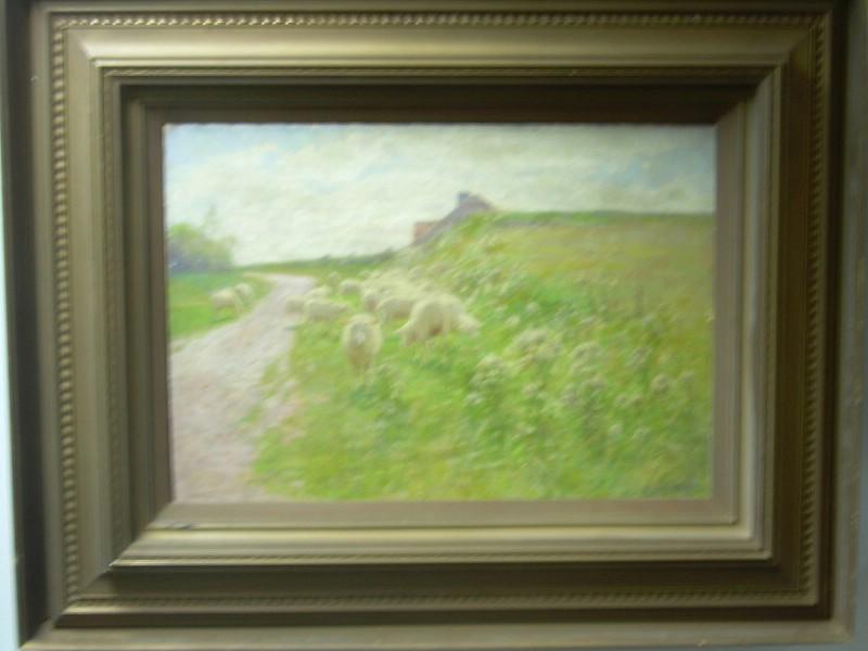 Alexis Jean Fournier (American, 1865-1948)      Grazing Sheep