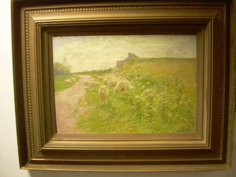 Alexis Jean Fournier (American, 1865-1948)      Grazing Sheep