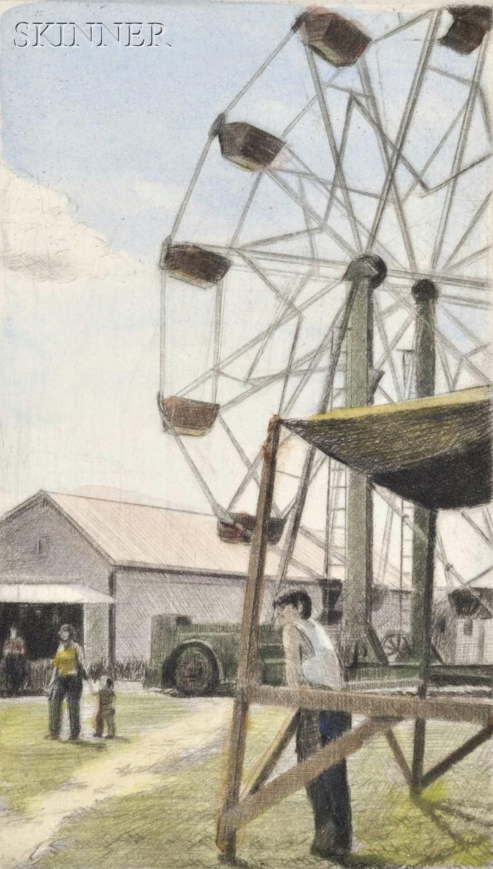 Altoon Sultan (American, b. 1948)      Ferris Wheel, Brookfield, WY