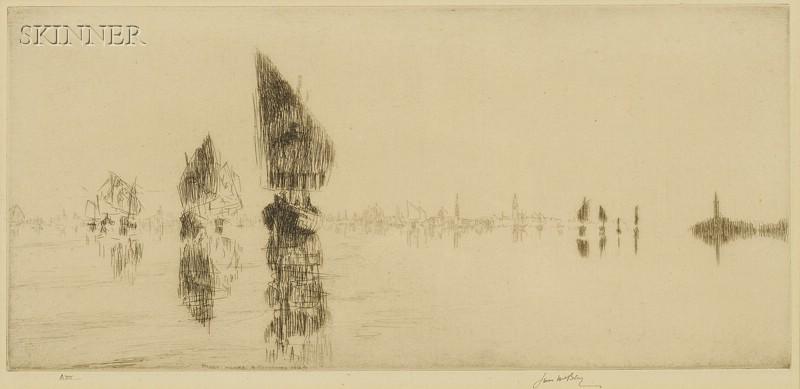 James McBey (British, 1883-1959)      Laguna Veneta