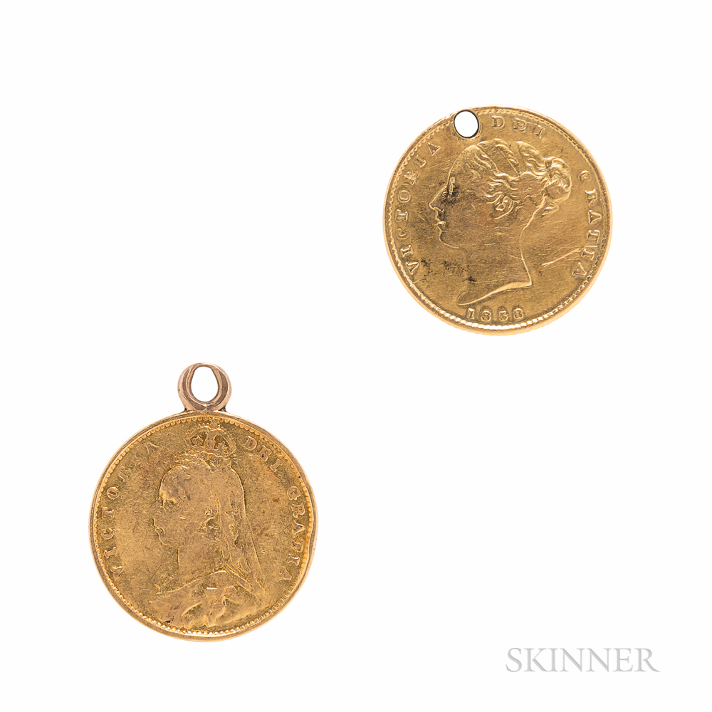 Two Victorian Gold Sovereigns