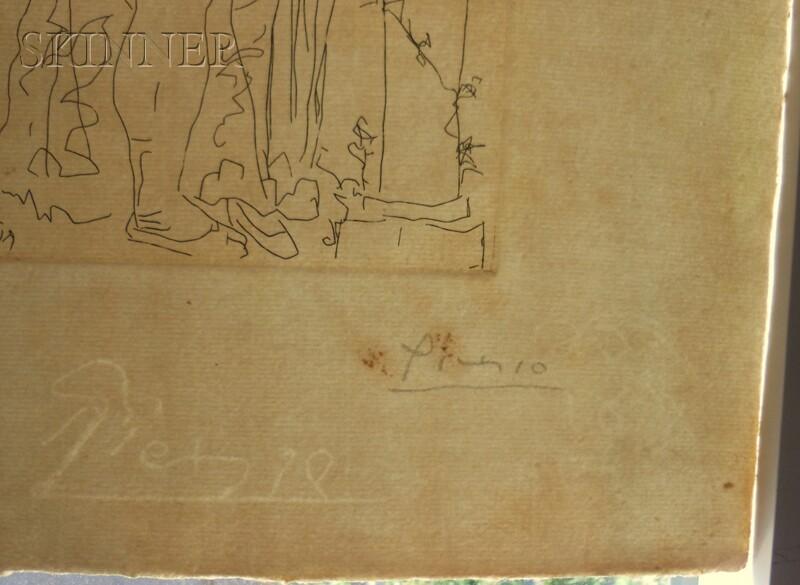 Pablo Picasso (Spanish, 1881-1973)      Trois acteurs