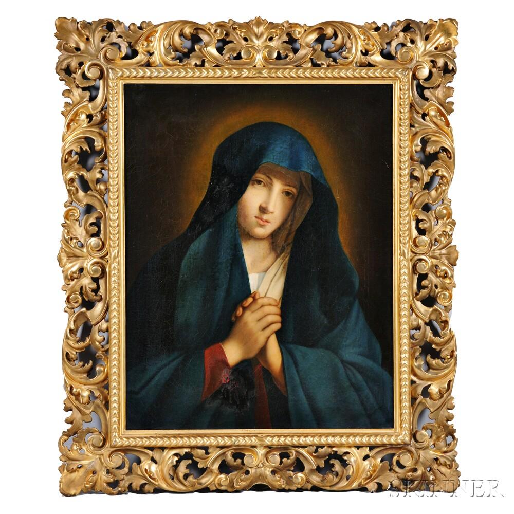 After Giovanni Battista Salvi, called il Sassoferrato (Italian, 1609-1685)      The Madonna in Sorrow